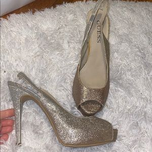 Guess Shimmer Gold Heel